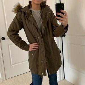 Green GAP women's coat size small